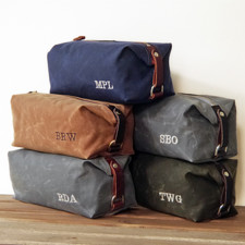 groomsmen-gift-personalized-men-s-toiletry-bags-embroidered-monogram-waxed-cotton-canvas-and-leather-dopp-kit-handmade